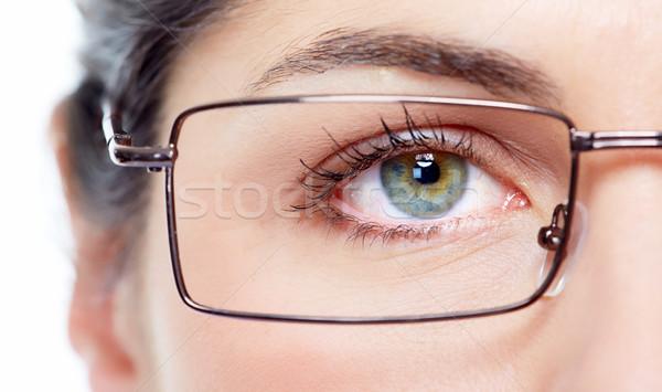 Eye with eyeglasses. Stock photo © Kurhan