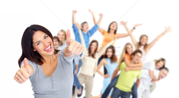Young happy people group portrait. Stock photo © Kurhan