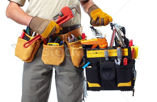 Handyman with a tool belt. Stock photo © Kurhan