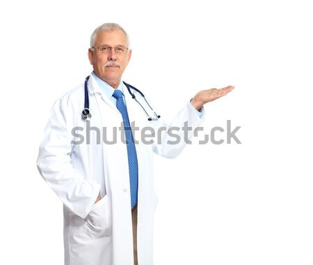 Arts geïsoleerd witte medische gezondheid Stockfoto © Kurhan