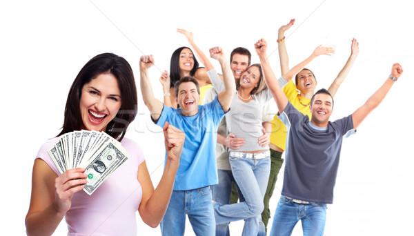 Happy woman with money. Stock photo © Kurhan