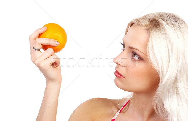 Orange diet Stock photo © Kurhan