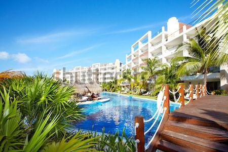 Swimming pool at caribbean resort. Stock photo © Kurhan