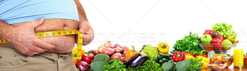 Grubas ciało diety zdrowych odżywianie Zdjęcia stock © Kurhan