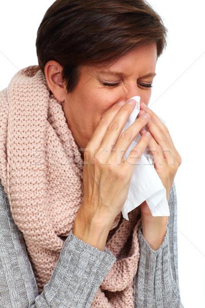 Donna tessuto influenza mano salute Foto d'archivio © Kurhan