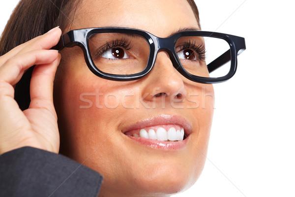 Сток-фото: красивой · молодые · Lady · очки
