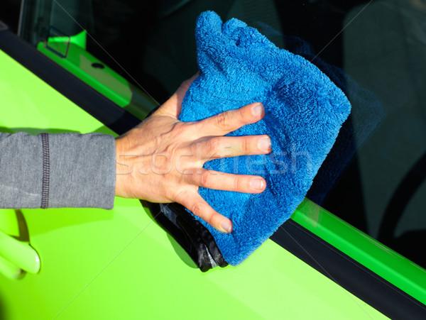 Car with wax and polish cloth. Stock photo © Kurhan