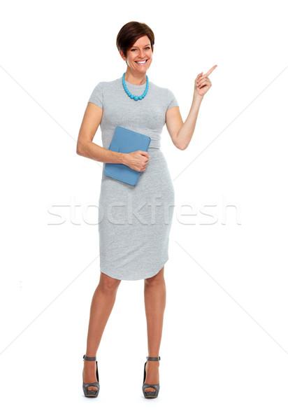 Belle femme d'affaires maturité isolé blanche femme Photo stock © Kurhan