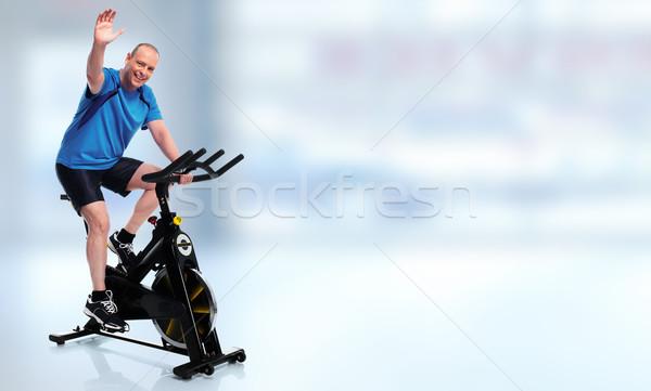 Senior uomo ciclismo bike Foto d'archivio © Kurhan