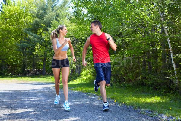 Jogging couple. Stock photo © Kurhan