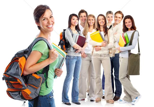 Stock photo: Happy students.