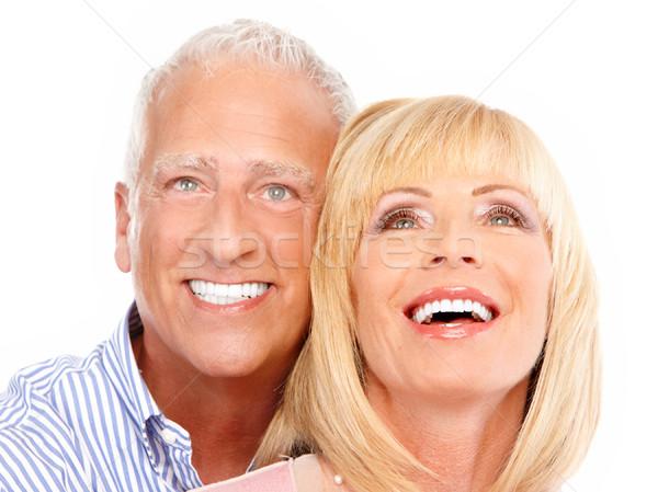 ストックフォト: 愛 · 孤立した · 白 · 家族 · 幸せ
