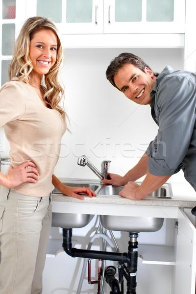 девушка и сантехник видео