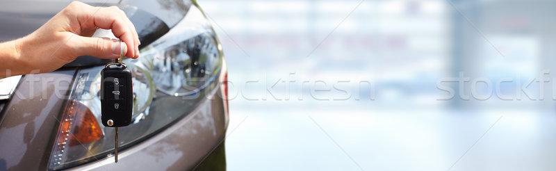 手 車のキー ドライバ 自動 家賃 販売 ストックフォト © Kurhan