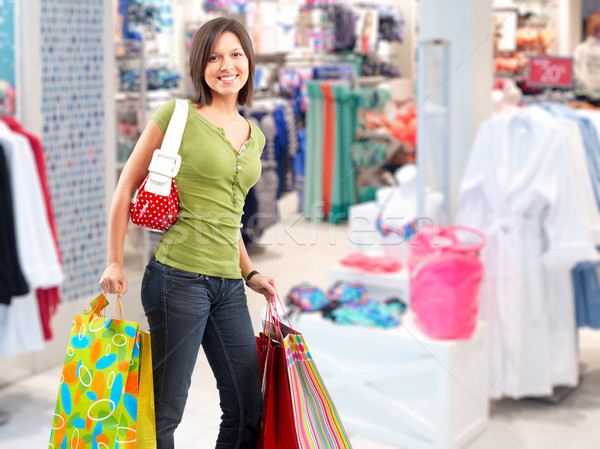 Shopping woman with paper bags. Stock photo © Kurhan
