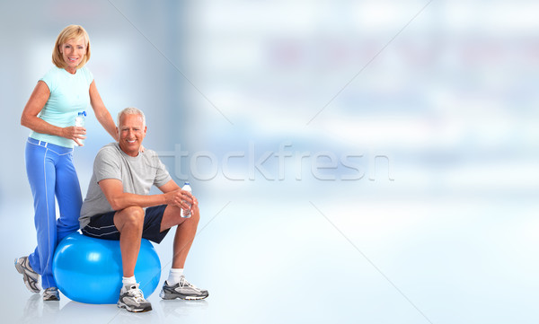 Senior healthy fitness couple. Stock photo © Kurhan