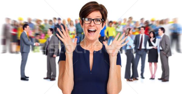 Happy laughing business woman. Stock photo © Kurhan