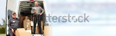 доставки почтальон окна профессиональных пакет порядка Сток-фото © Kurhan