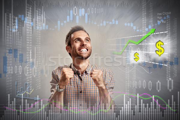 Happy investor man. Stock photo © Kurhan