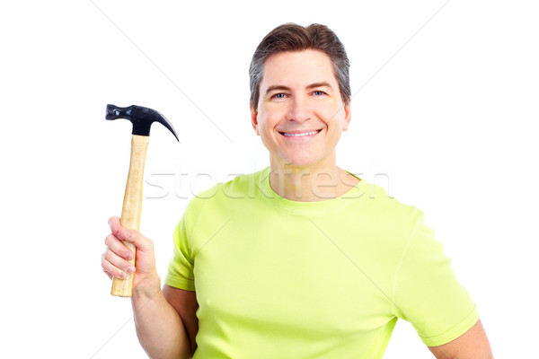 Man with hammer Stock photo © Kurhan