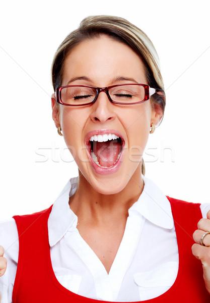 Crying business woman. Stock photo © Kurhan