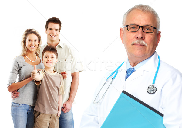 Medical family doctor and patients.  Stock photo © Kurhan