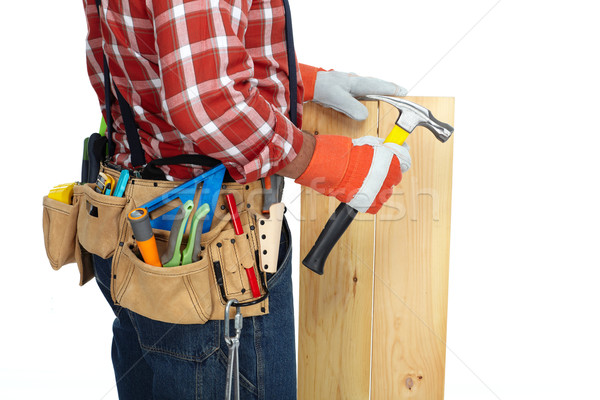 Man builder with construction tools. Stock photo © Kurhan