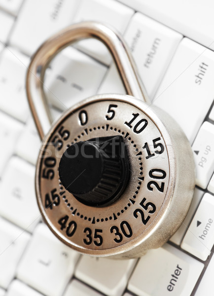 Lock with keyboard. Stock photo © Kurhan
