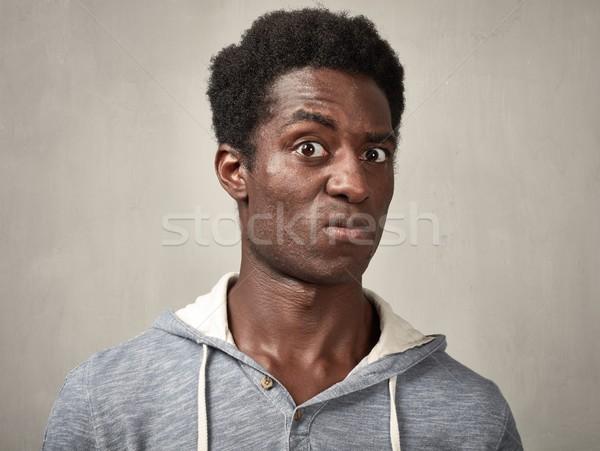 Thinking man face Stock photo © Kurhan