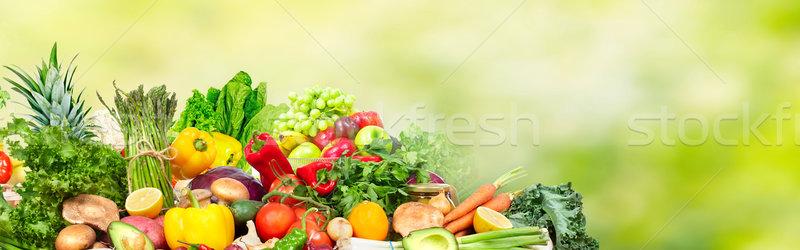 Warzyw owoce tabeli diety żywności tle Zdjęcia stock © Kurhan