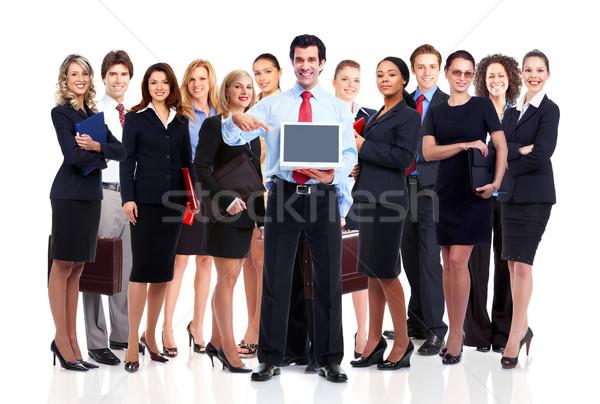 Gente de negocios equipo grupo sonriendo equipo de negocios negocios Foto stock © Kurhan