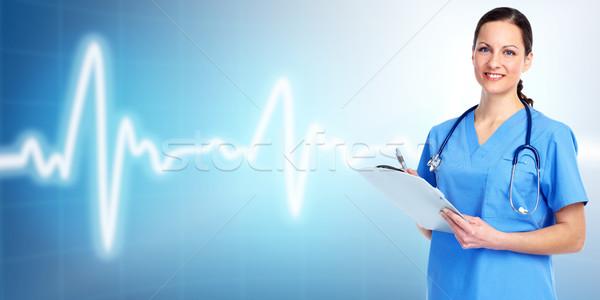 медицинской врач кардиолог синий здоровья фон Сток-фото © Kurhan