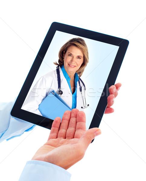 Stok fotoğraf: Doktor · kadın · sağlık · yalıtılmış · beyaz