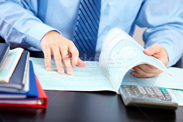 Stock photo: Accountant businessman.