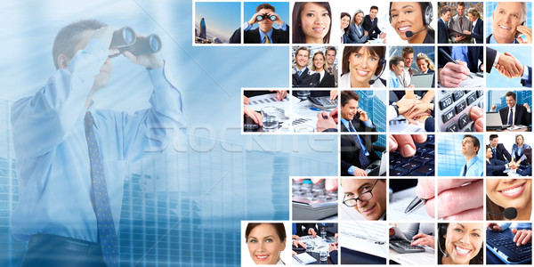 Business people group collage. Stock photo © Kurhan