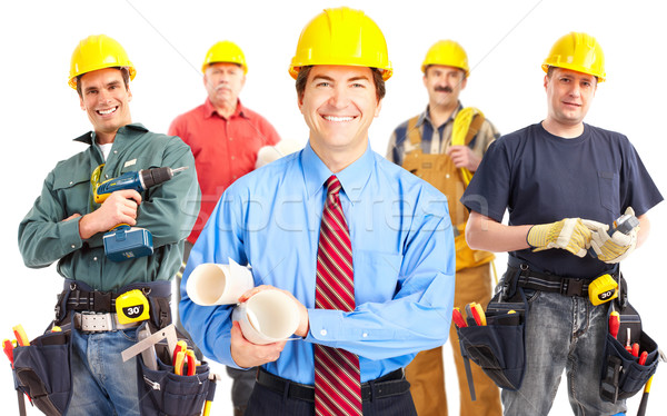 Industrial workers group. Stock photo © Kurhan