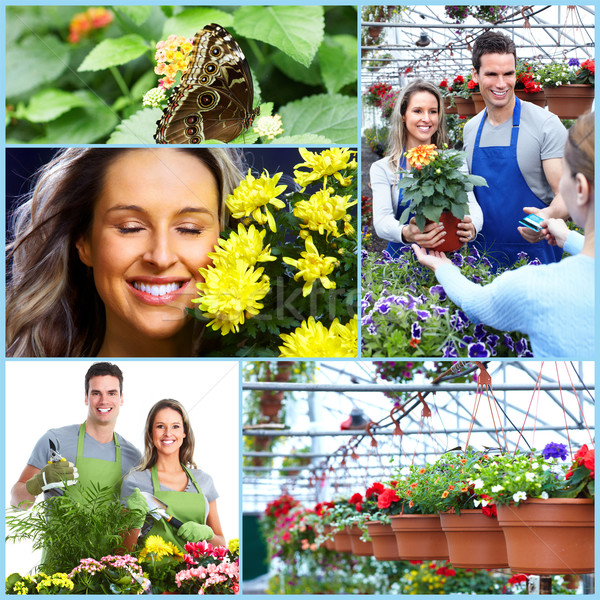 Stock photo: Gardening couple.