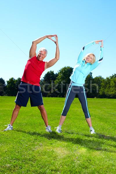 Fitness couple. Stock photo © Kurhan