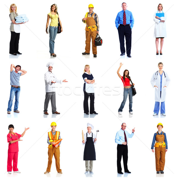 Group of workers people set. Stock photo © Kurhan