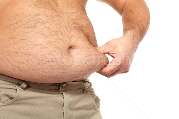 Fat man with a big belly. Stock photo © Kurhan