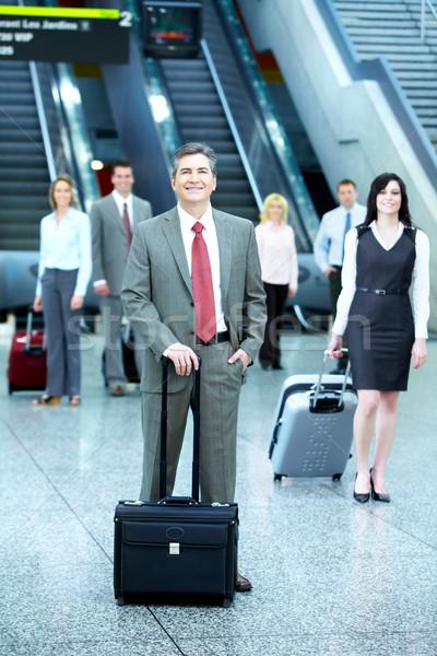 Foto stock: Grupo · pessoas · de · negócios · aeroporto · viajar · negócio · mulher