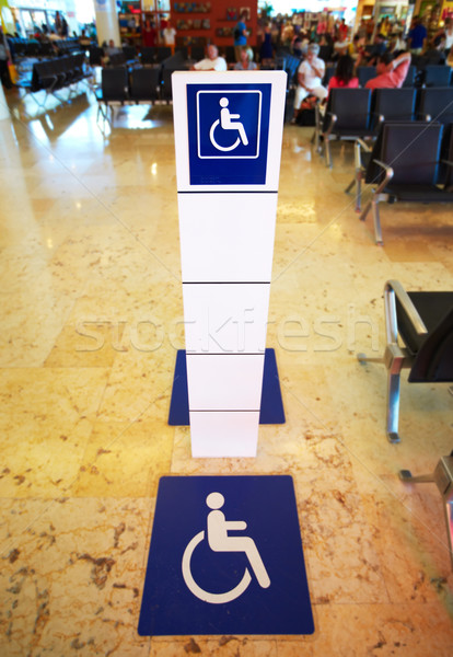 Stock photo: Place for persons with disabilities.