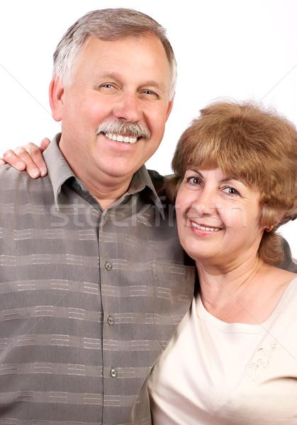 Felice Coppia anziani amore bianco famiglia Foto d'archivio © Kurhan
