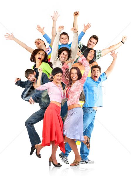 Boldog emberek boldog vicces emberek izolált fehér Stock fotó © Kurhan