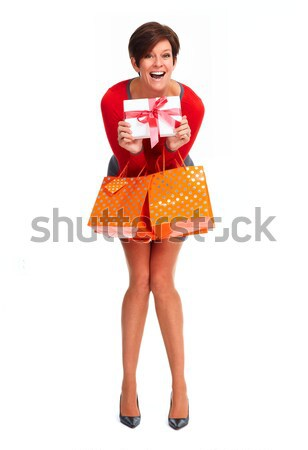 African woman with shopping bags. Stock photo © Kurhan
