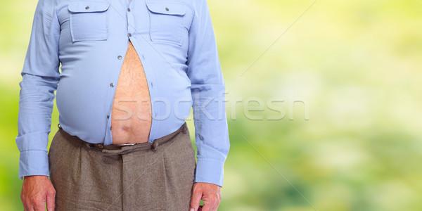 Obese man abdomen. Stock photo © Kurhan