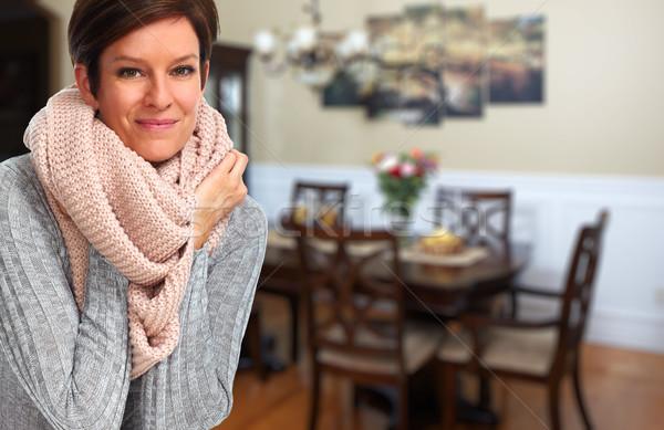 Mature woman with scarf. Stock photo © Kurhan