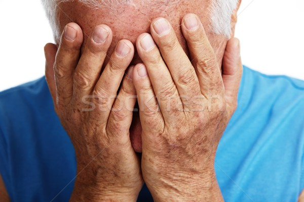 Depressed senior man. Stock photo © Kurhan
