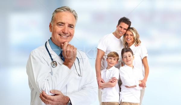 Senior family doctor Stock photo © Kurhan