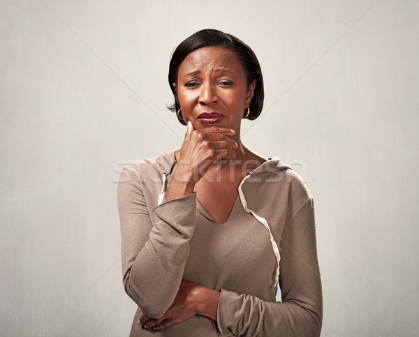 Sad crying black woman Stock photo © Kurhan